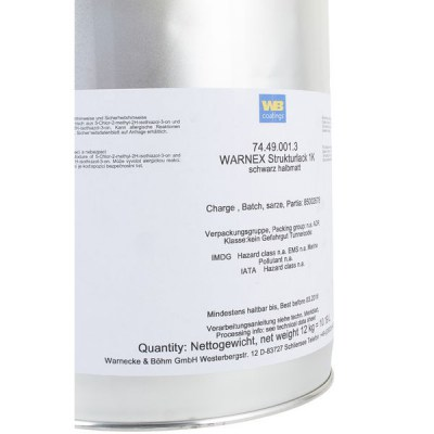 Warnex Structure Paint Black 12kg