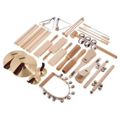 Goldon Percussion Set in Wood Box
