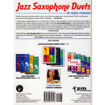 Music Minus One Jazz Saxophone Duets