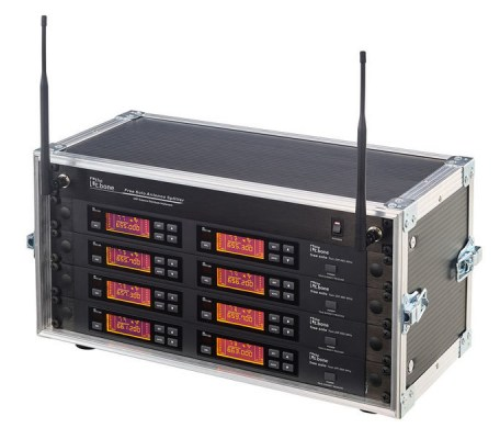 the t.bone free solo PT 520 MHz/8 CH Rack