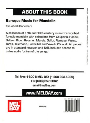 Mel Bay Baroque Music for Mandolin