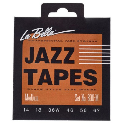 La Bella 800M Jazz Black Nylon M