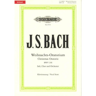 C.F. Peters Bach Christmas Oratorio BWV248