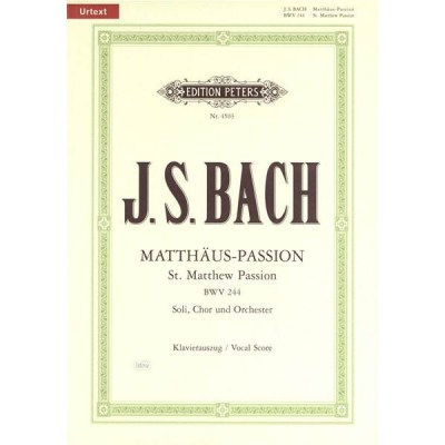 C.F. Peters Bach Matthew Passion BWV244