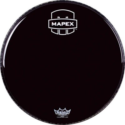 "Mapex 20"" Bass Drum Front Head Black"