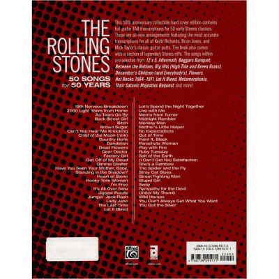 Alfred Music Publishing Rolling Stones 50 Songs
